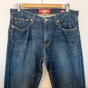 Lucky Brand Men Size 32x30 Jeans Dark Wash